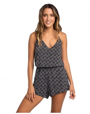 LOST COAST ROMPER - BLACK