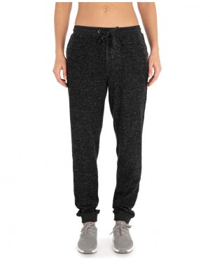 COSY TRACKPANT - BLACK MARLED