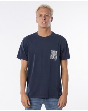 SEARCHERS DRIFTER TEE - INDIGO