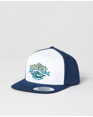 SURF STICKER CAP - INDIGO