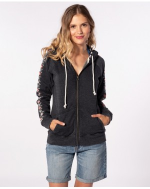 ODESHA ZIP HOOD - BLACK