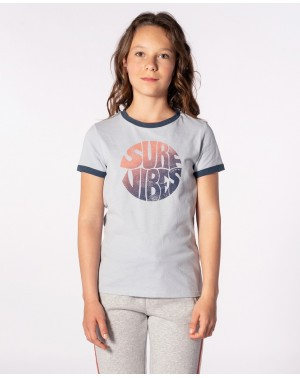 GOOD VIBRATIONS TEE - HEATHER