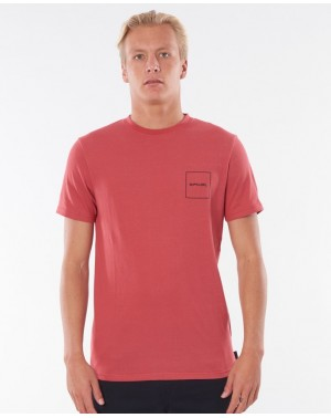 10M TEE - WASHED RED