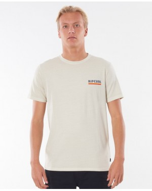 SURF REVIVAL STRIP TEE - BONE
