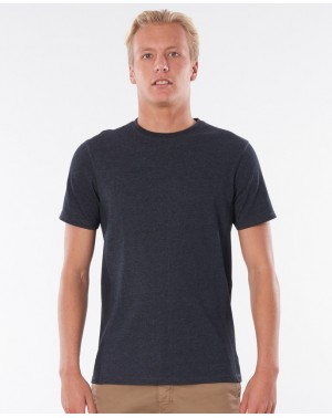 PIVOTING TEE - BLACK MARLED