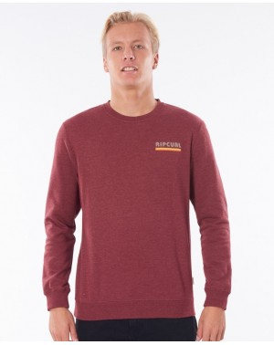 SURF REVIVAL CREW - BURGUNDY