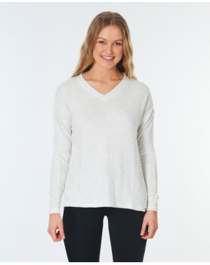COSY FLEECE - WHITE MARLE