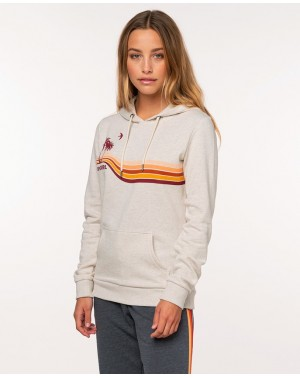 GOLD BEACH FLEECE - ECRU MARLE
