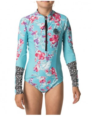 GIRL LS UV SURFSUIT - BLUE