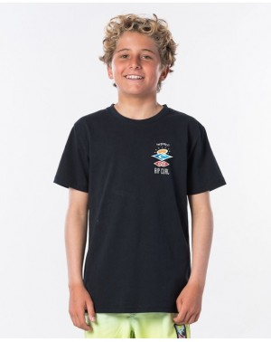 THE SEARCH SS TEE BOY - BLACK