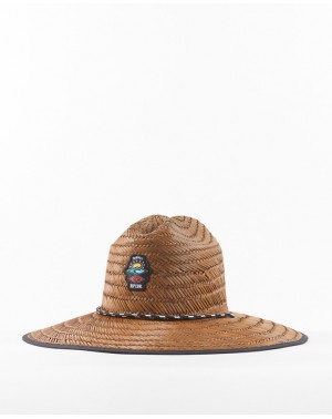 ICONS STRAW HAT - BROWN