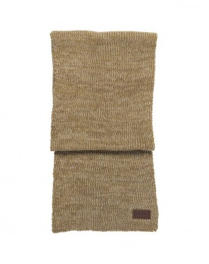 WHITE TIP SCARF - LEAD GRAY