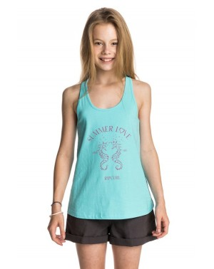 FLAMING LOVE TANK - CAPRI