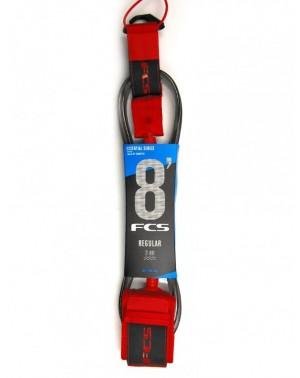 FCS 8 Reg Essential Leash Red