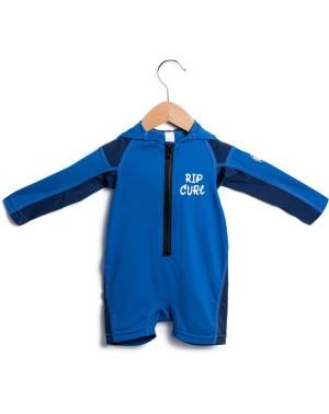 KIDS HOODED LS UV SPRI - BLUE