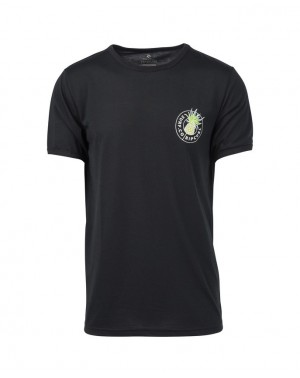 TROPIC TOPIC SS VC TEE - BLACK