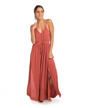 NELLY MAXI DRESS - HOT SAUCE